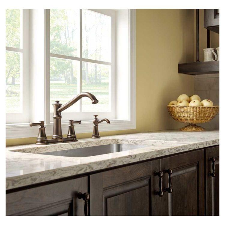 View 3 of Moen 7250SRS Moen 7250SRS Belfield Spot Resistant Stainless Two Handle Kitchen Faucet