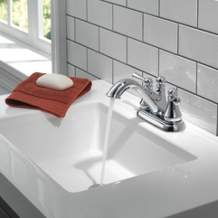 View 5 of Delta 25999LF Delta 25999LF Haywood Centerset Bathroom Faucet with Pop-Up Drain, Chrome