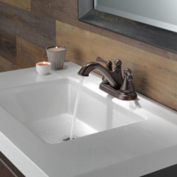 View 5 of Delta 25999LF-RB Delta 25999LF-RB Haywood Centerset Bathroom Faucet with Pop-Up Drain, Venetian Bronze