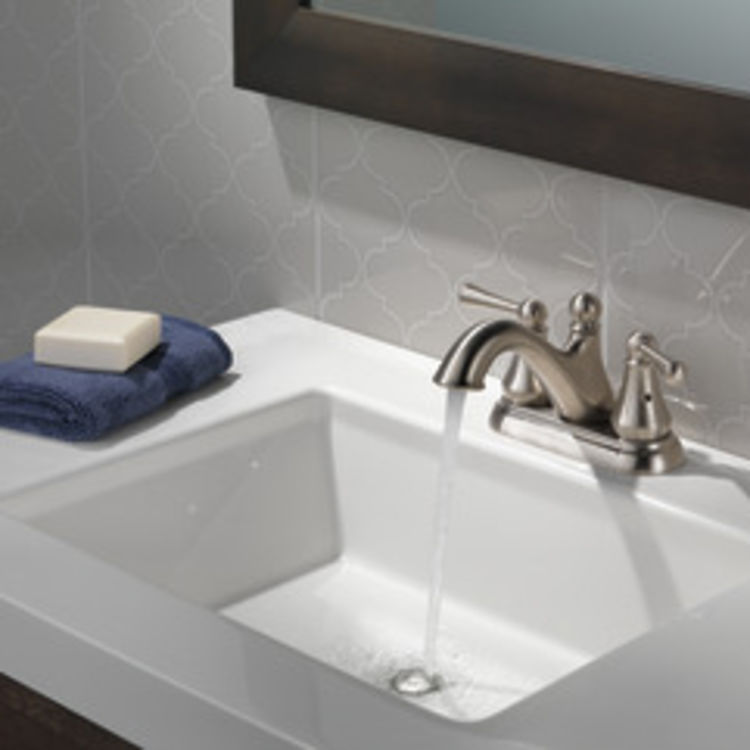 View 5 of Delta 25999LF-SS Delta 25999LF-SS Haywood Centerset Bathroom Faucet with Pop-Up Drain, Stainless