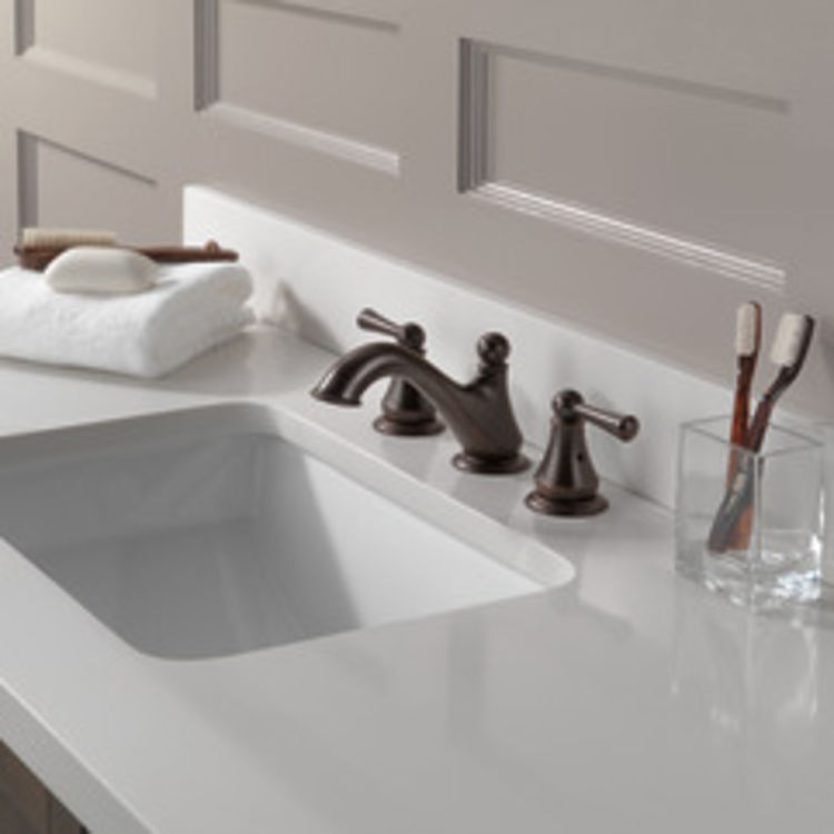 View 4 of Delta 35999LF-RB Delta 35999LF-RB Haywood Two-Handle Widespread Lavatory Faucet, Venetian Bronze