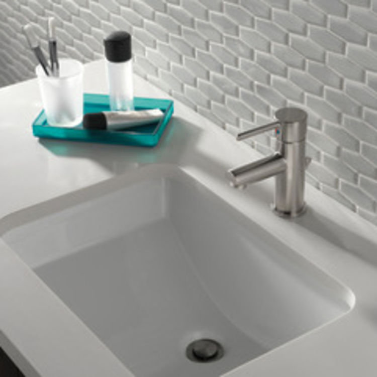 View 3 of Delta 559LF-SSPP Delta 559LF-SSPP Modern Single Handle Project-Pack Lavatory Faucet, Stainless