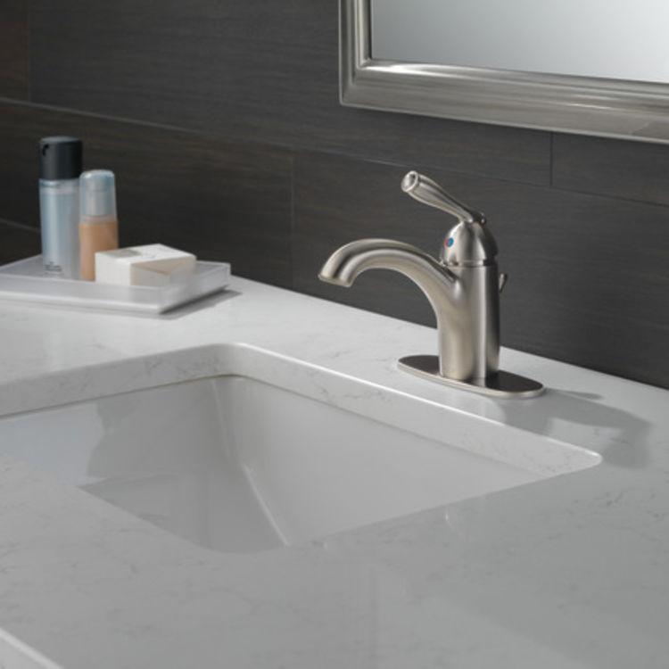 View 5 of Peerless P188627LF-BN Peerless P188627LF-BN CLAYMORE Single Handle Lavatory Faucet - Brushed Nickel