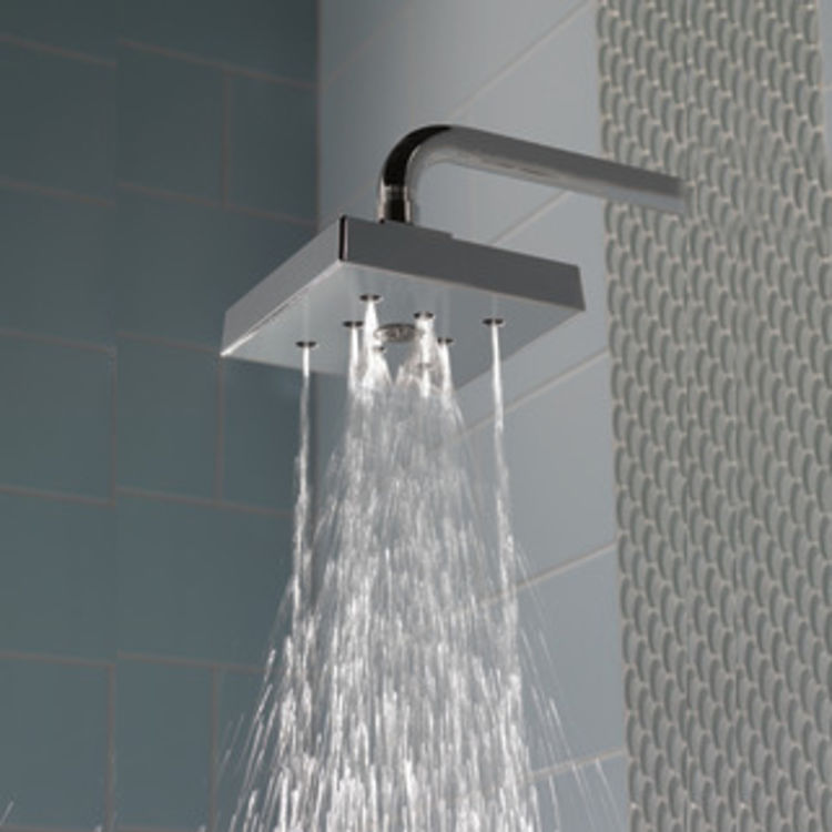 View 3 of Delta RP70171-15 Delta RP70171-15 Ara Single Function Shower Head with H2Okinetic Technology, 1.5 GPM - Chrome