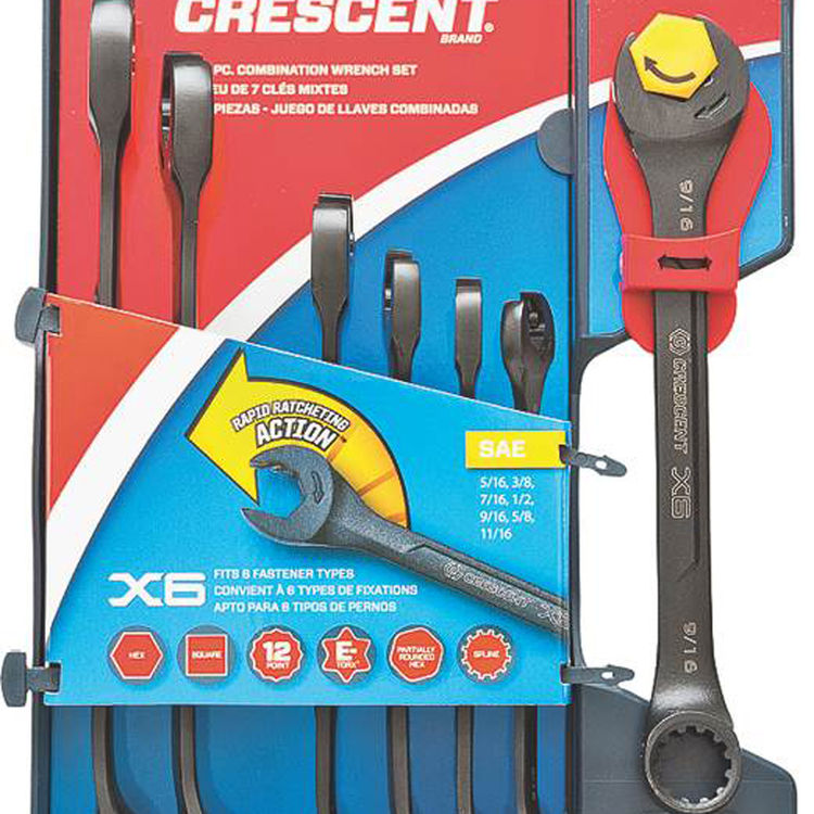 View 3 of Crescent CX6RWS7 Crescent CX6RWS7 Ratcheting Wrench Set, 7 Pieces