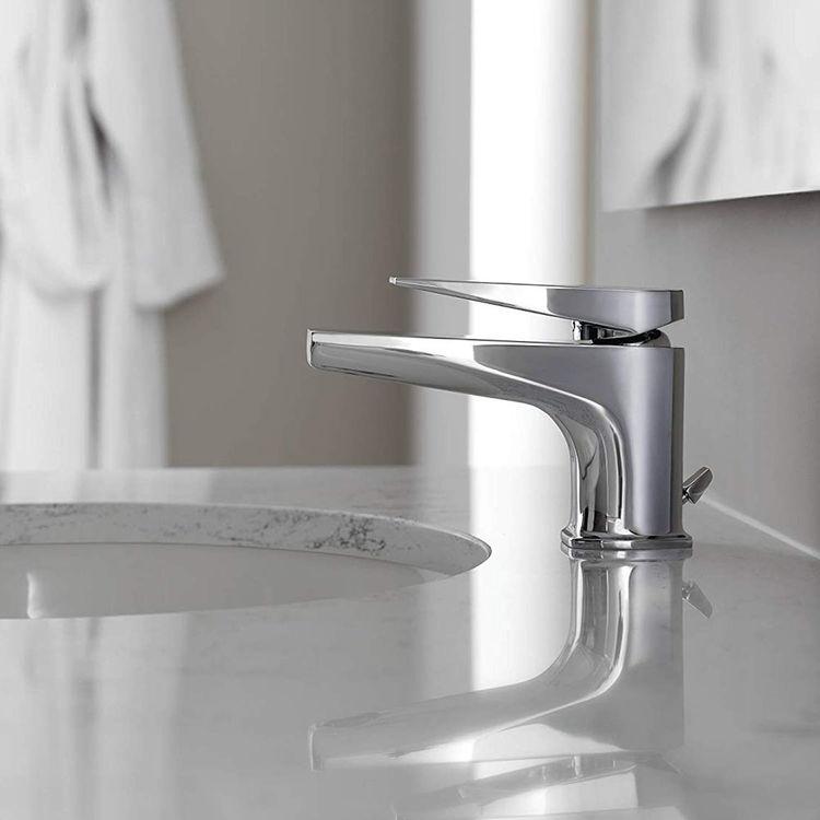 View 4 of Moen S8001 Moen S8001 Via One Handle Lavatory Faucet, Chrome