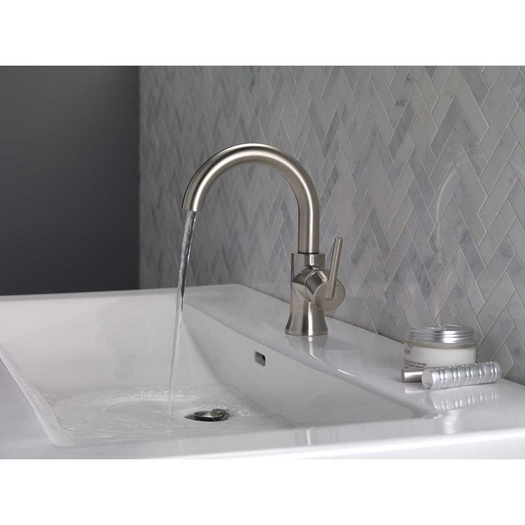 View 3 of Delta 559HA-SS-DST Delta 559HA-SS-DST Trinsic Stainless High Arc Bathroom Faucet