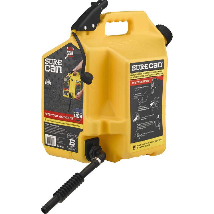 View 4 of SureCan SUR50D1 SureCan 5 Gallon Yellow Gas Can for Diesel Fuel - SUR50D1