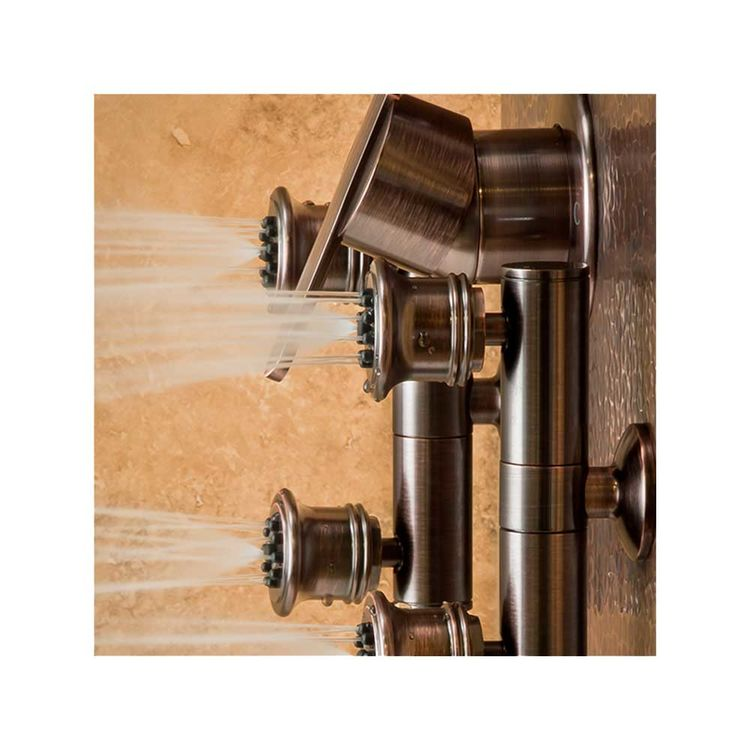 View 4 of Pulse 1016 Pulse 1016 Hammered Copper Mojave ShowerSpa, Oil-Rubbed Bronze Finish