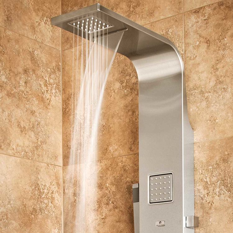 View 5 of Pulse 1034 Pulse 1034 Waimea Oversized Body Jets ShowerSpa, Brushed Stainless Steel