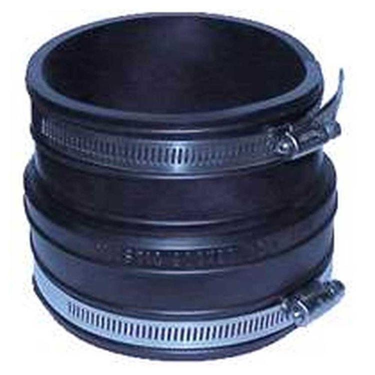 Fernco 1060-44 Fernco 1060 Flexible Pipe Coupling, 4 in x 3.97 in, Plastic Socket, 4.3 psi, PVC