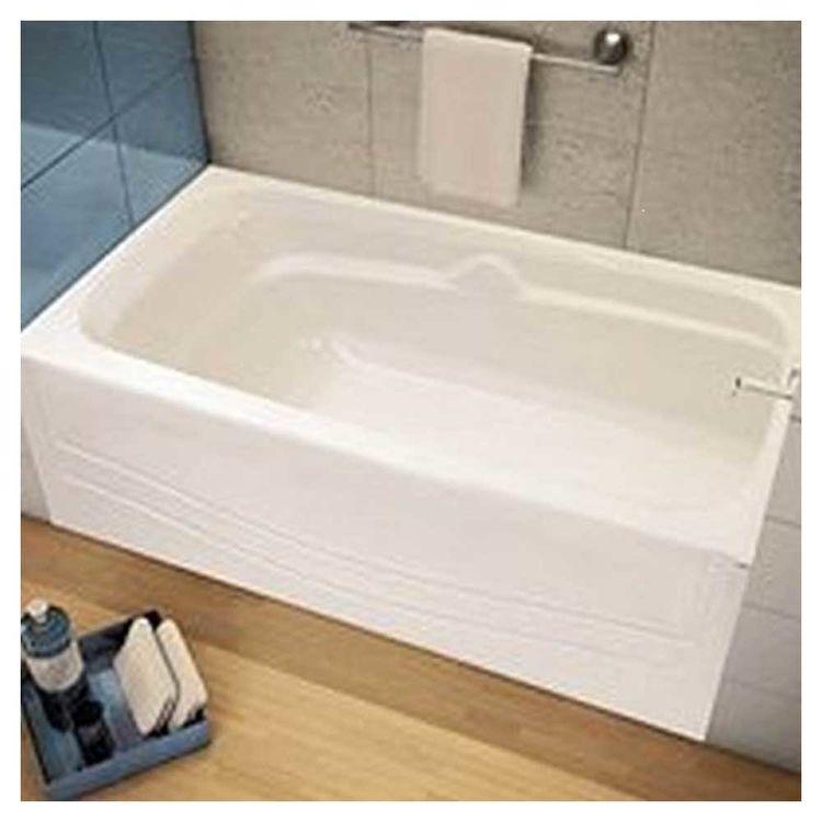 Maax 105524-000-002-00 Avenue 105524-000-002-00 Alcove Bathtub, 60 in L X 30 in W X 21 in H, 46 gal Capacity, White