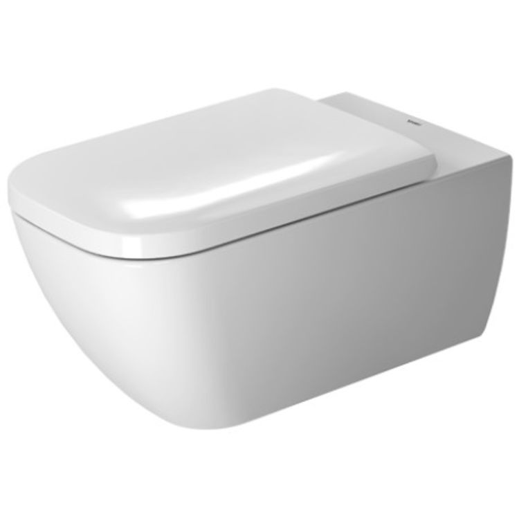 Duravit 2550092092 Duravit 2550092092 Happy D.2 Dual Flush One-Piece Wall Mounted Rimless Elongated Toilet - White