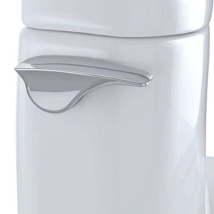 View 7 of Toto MS614114CUFG#01 TOTO Carlyle II 1G One-Piece Elongated 1.0 GPF Universal Height Skirted Toilet with CeFiONtect, Cotton White - MS614114CUFG#01