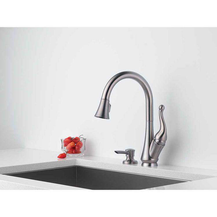 View 3 of Delta 16968-SSSD-DST Delta 16968-SSSD-DST Talbott Stainless Kitchen Pulldown Faucet W/ Soap Dispenser