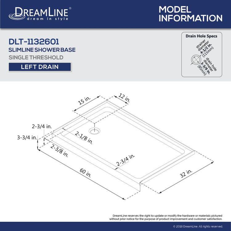 View 13 of Dreamline DL-6521L-88-01 DreamLine DL-6521L-88-01 Aqua Ultra 32