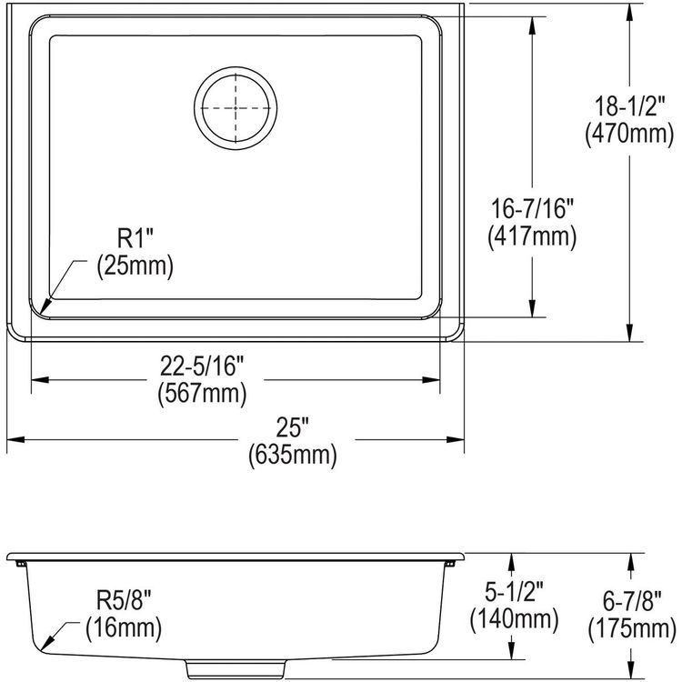 View 10 of Elkay ELGUAD2519PDWH0 Elkay  ELGUAD2519PDWH0 Quartz Classic Single Bowl Undermount ADA Sink with Perfect Drain, 25