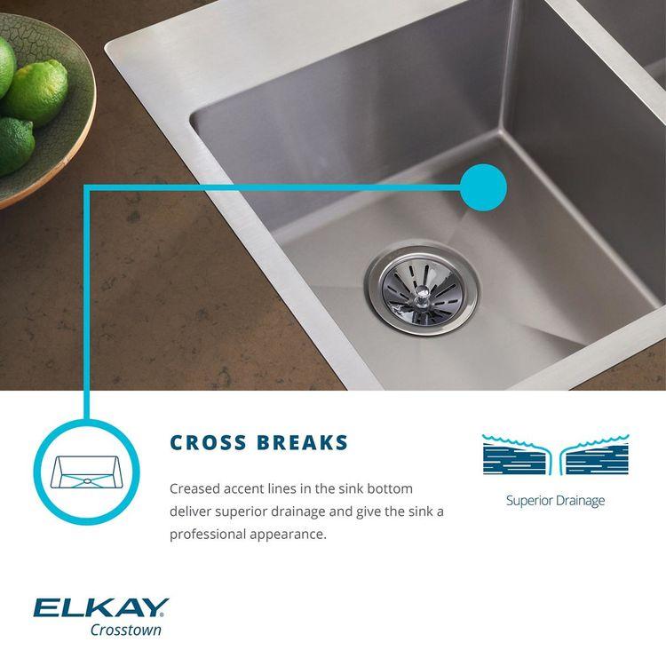 View 5 of Elkay ECTSRS33229TBG3 Elkay Crosstown Stainless Steel 33