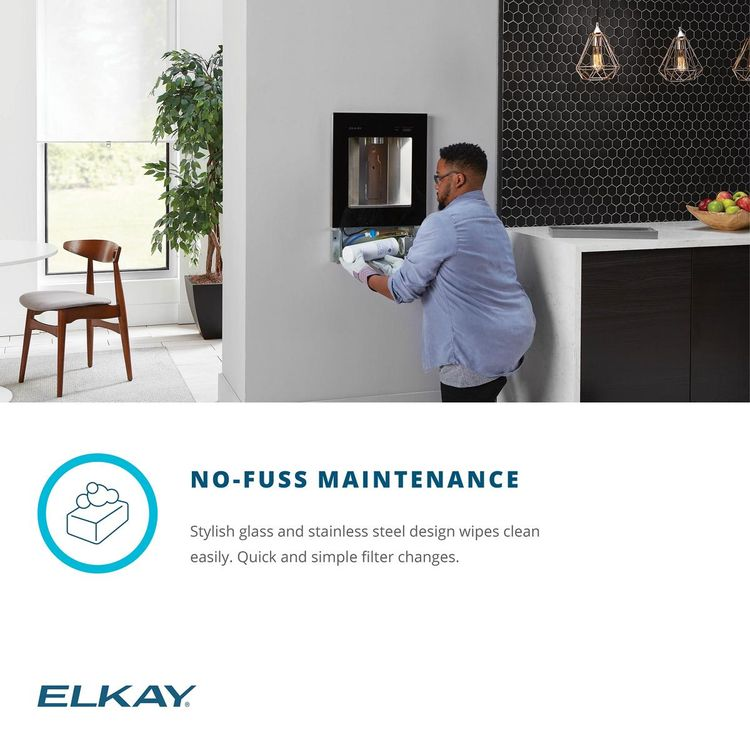 View 10 of Elkay LBWD00WHC Elkay ezH2O Liv Built-in Filtered Water Dispenser, Non-refrigerated, Aspen White - LBWD00WHC