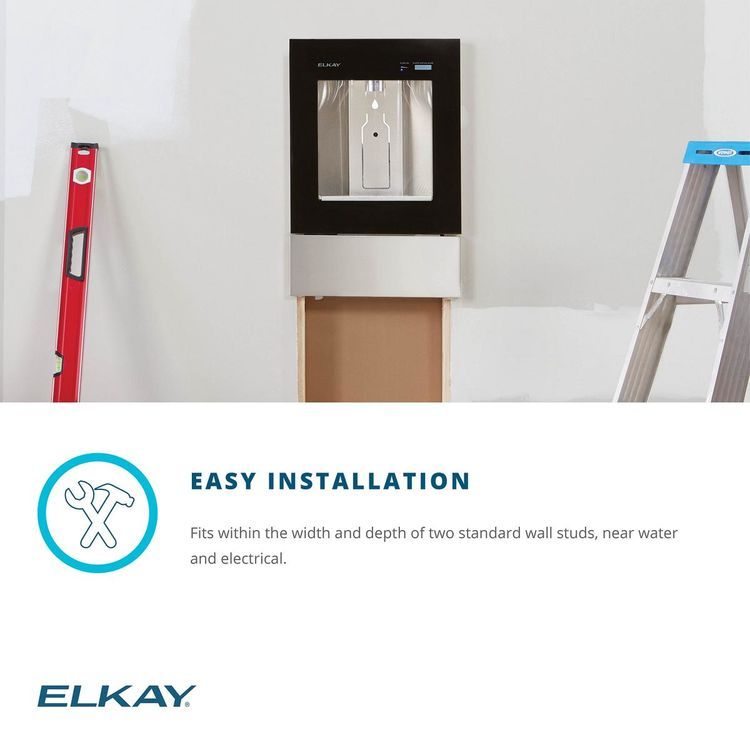 View 10 of Elkay LBWD06BKK Elkay LBWD06BKK ezH2O Liv Built-in Filtered Water Dispenser, Remote Chiller, Midnight