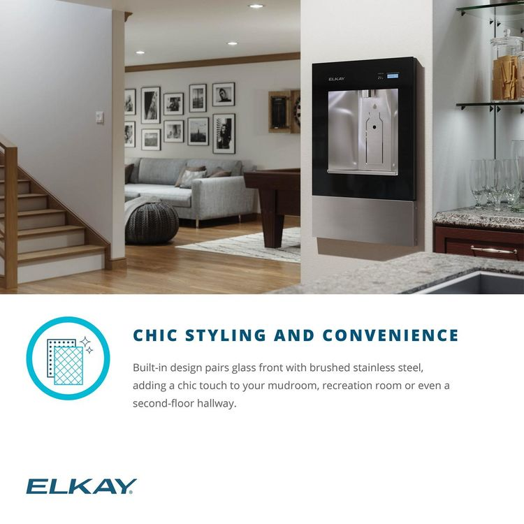 View 9 of Elkay LBWD06WHK Elkay LBWD06WHK ezH2O Liv Built-in Filtered Water Dispenser, Remote Chiller, Aspen White