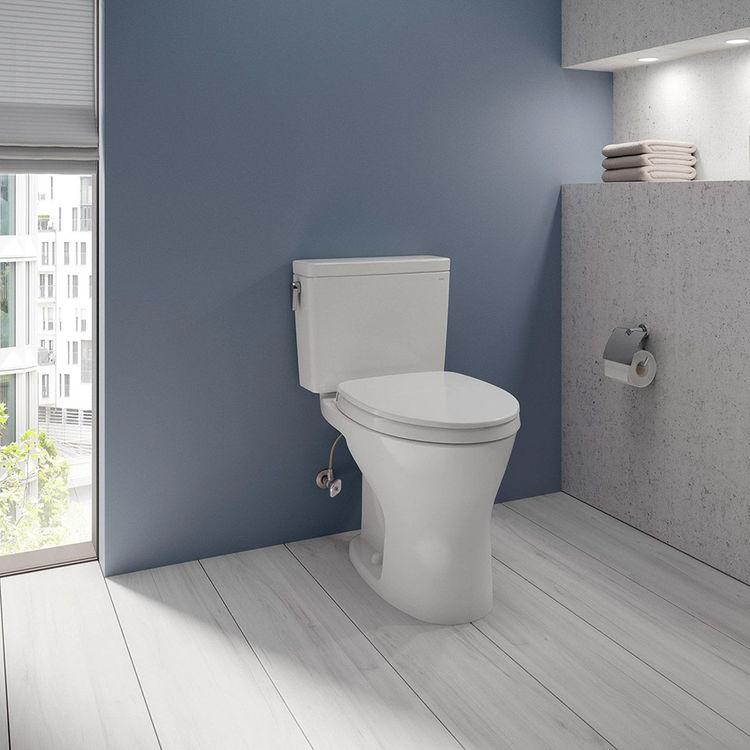 View 4 of Toto CST746CSMG#01 TOTO CST746CSMG#01 Drake Two-Piece Toilet 1.6 GPF & 0.8 GPF Elongated Bowl - Cotton White