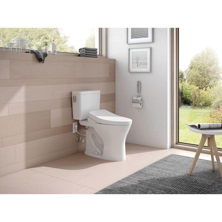 View 5 of Toto MW7463056CUMFGA#01 TOTO Drake 1G WASHLET+ S550e Two-Piece Toilet - 1.0 GPF & 0.8 GPF - Universal Height - Cotton White - MW7463056CUMFGA#01