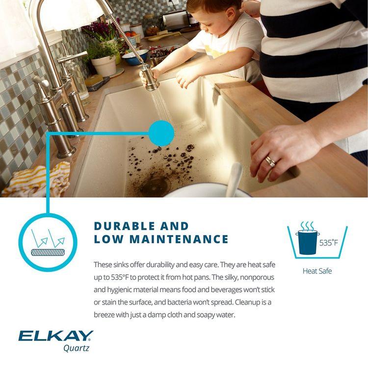 View 5 of Elkay ELGRU13322SD0 Elkay ELGRU13322SD0 Quartz Classic Single Bowl Undermount Sink, Sand