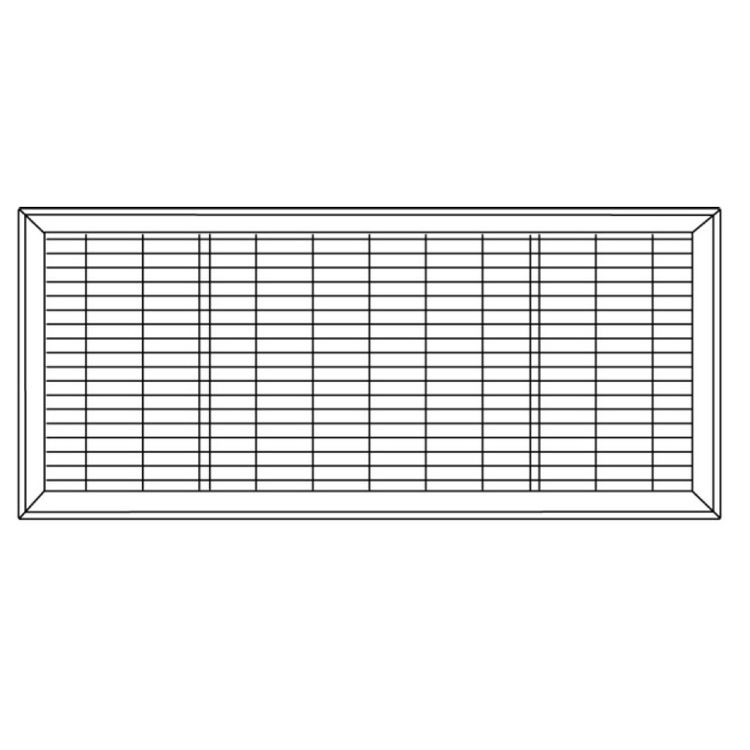 View 4 of Shoemaker 1600-4X12 4x12 Driftwood Tan Vent Cover (Steel Honeycomb Construction) - Shoemaker 1600