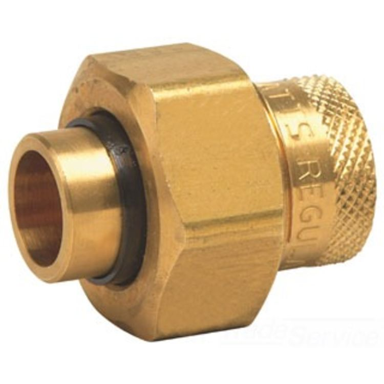 DIUN300834 0009881  LEADFREE DIELECTRIC UNION FEMALE BRASS PIPE THREAD TO FEMALE SOLDER CONNECTIONS