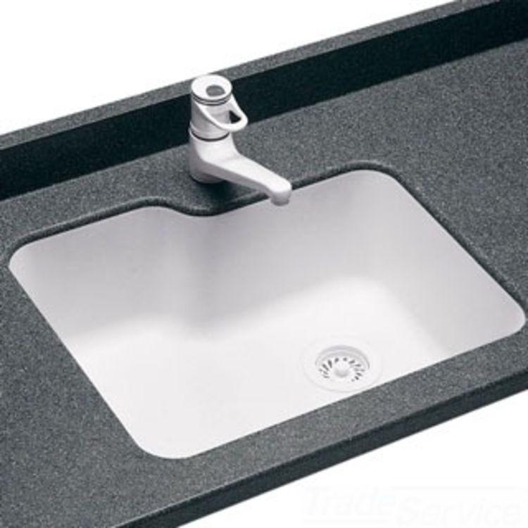 Swanstone Us 2215 010 15 X 22 Undermount Single Bowl Kitchen Sink White Us02215sb 010