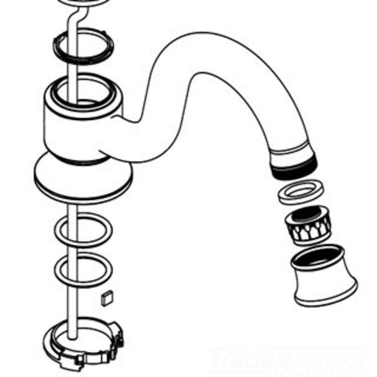 Moen 116626NL Moen 116626NL Part Spout Kit, Widespread Lavatory