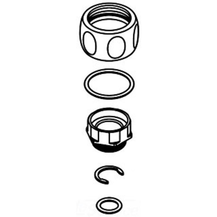Moen 124019NL Moen 124019NL Mannerly Hardware Kit, Nickel