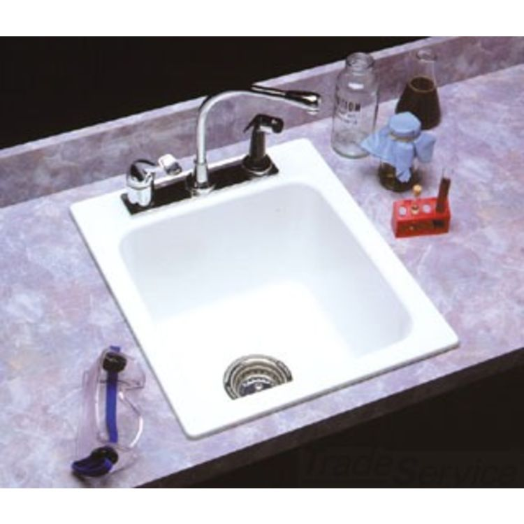 Mustee 11 17 X20 Utility Sink Drop In Small White