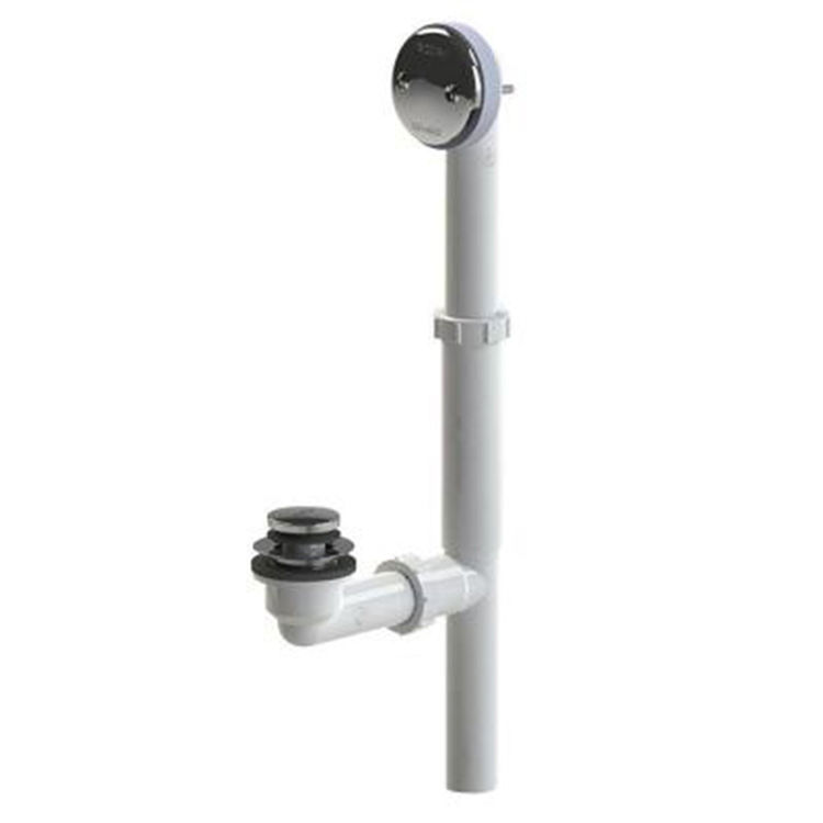 Watco 500 Fa Pvc Bn Foot Actuated Bath Waste Brushed Nickel