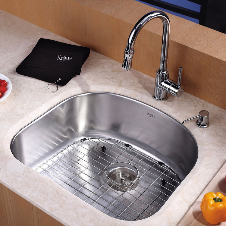 kitchen sink and faucet combinations kraus kbu10 kpf1622 ksd30ch kitchen sink and faucet combo 24896
