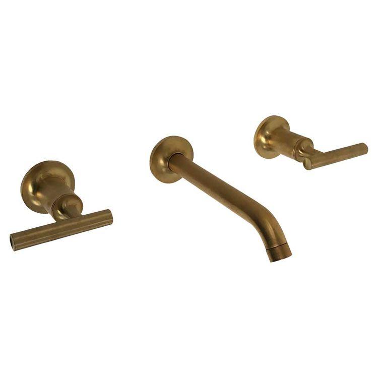 Kohler k t14413 4 bgd brushed gold purist wall mount - Brushed gold bathroom faucets kohler ...