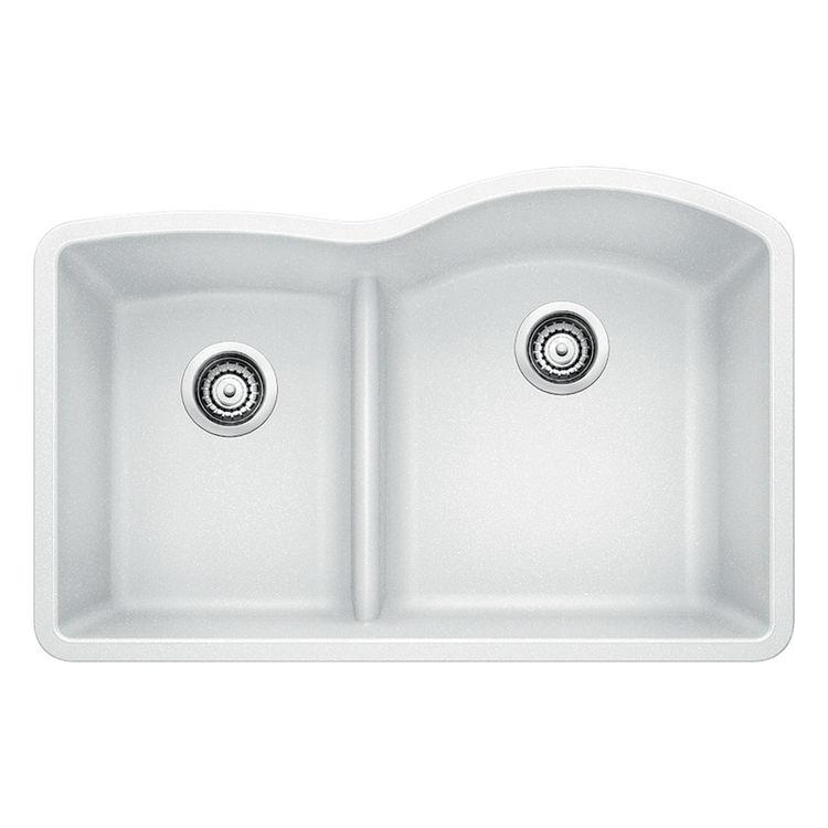 blanco 441603 silgranit ii undermount double bowl sink