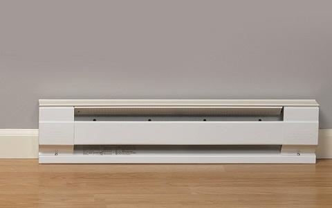installed baseboard heater