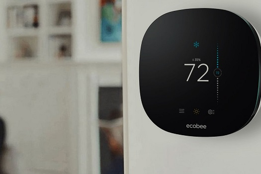 ecobee4 installed on wall