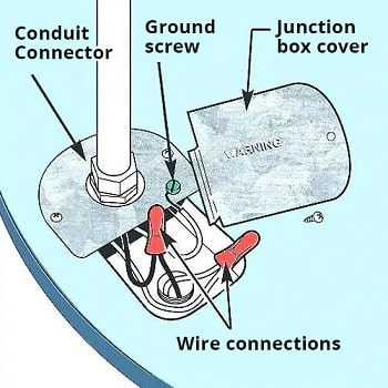 diagram of components for learning how to wire a water heater