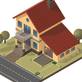 diagram of home with sprinkler zones