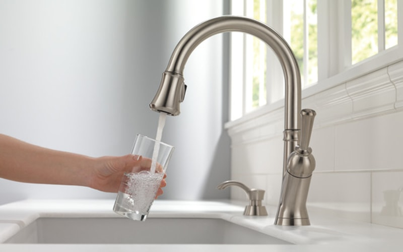 finished kitchen faucet installation