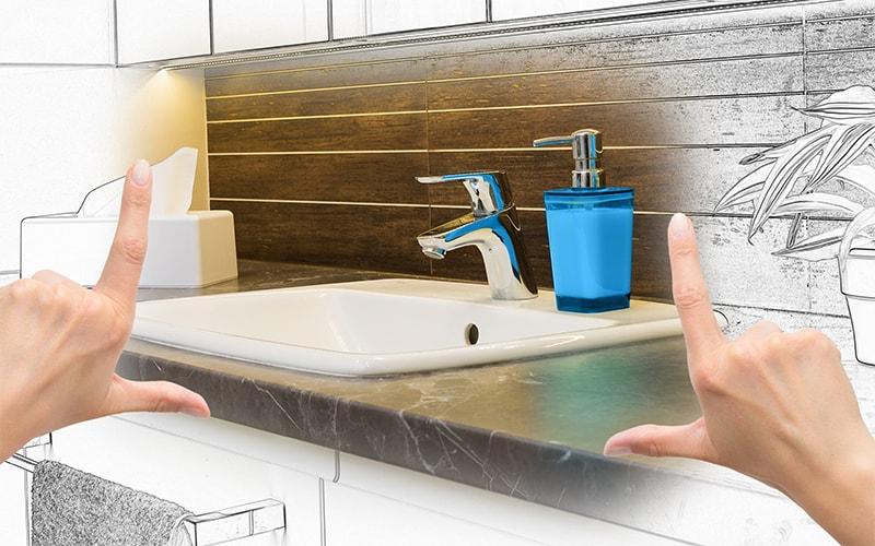remodeling a bathroom toilet