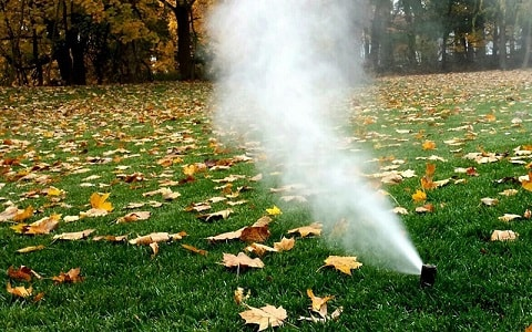 sprinkler blowout winterization