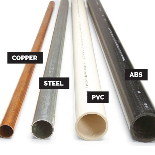 types of pipe used in sprinkler installations