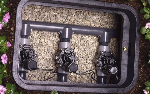 top view of valve box