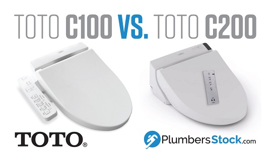toto washlet c100 vs. c200