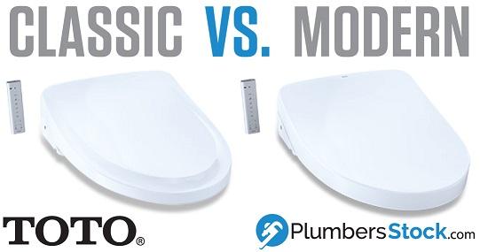 toto washlet modern vs. classic