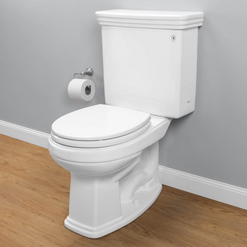 angled view of Promenade II toilet installed